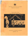 Teaching Guide in  Music for Primary and Elementary Grades 1971