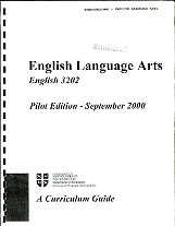 English Language Arts English 3202 - Pilot Edition - September 2000