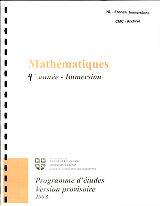 Mathematiques 4e annee - Immersion