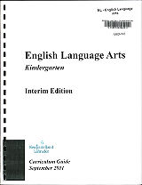 English Language Arts - Kindergarten