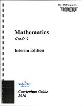 Mathematics - Grade 9 Interim Edition