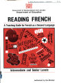 Reading French A Teaching Guide for French as A Second Language Department of Education