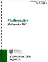 Mathematics 3103