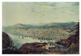 Postcard - Painting of St. John's Harbour and Town from the Queen's Battery 1831