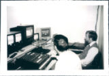 (l-r) Ben Turpin and Glenn Simmons man the console at SCAN TV