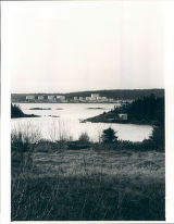 Lewisporte Harbor with tanks in the background
