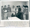 Standing from left to right: Boyd Smith; Terry Hopkins, Englee; Stanley Fiander, Coomb's...