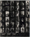 1.01.004: Black and white contact sheets of Red Island in performance (includes September 17 show...