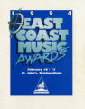 3.06.001: East Coast Music Award (ECMA): programs and media clippings, 1993-1995