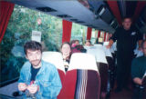 On the tour bus (Brian Kenny and Anita Best)