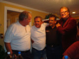 Cousins Don, Eddie and Dennis with Des Walsh