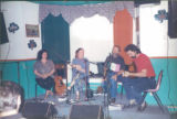 Jean Hewson, Anita Best, Fergus O'Byrne and Don Walsh at the Folk Club at the Blarney Stone Pub,...