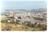 01 Panoramic view of the city of St. John's, with the Health Sciences Centre and Memorial...