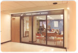 01 The entrance and reception area, Medical Audio-Visual Services (M.A.V.S.), Clive Barrett,...