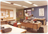 02 The reception area, Medical Audio-Visual Services (M.A.V.S.), L-R: Isabel Hunter, Medical...