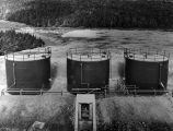 198 Oil storage tanks located behind utilities annex.  These tanks each hold 94,500 gallons.