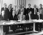 038 Thursday, September 21, 1972, St. John's, Newfoundland.Members of the Senior Committee and...