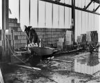 068 First laying of concrete block in communicore area, Tuesday, January 9th., 1973