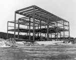 072 Utilities annex showing structural steel virtually completed. Photo taken Monday, January 29, 1973.