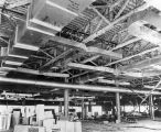 095 Level 2 - medical school - teaching lab area - showing mechanical ducts and sprayed...