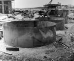 099 Fabrication of oil storage tanks, 27' diameter 20' high, each to contain 2100 barrels. Photo...