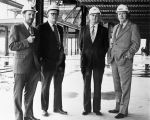 128 Site inspection tour September 20, 1973. Left to right: T. E. Bursey, R.H. Self, G. Butler,...