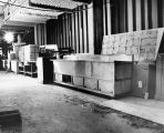 133 Servery equipment stored on site awaiting installation. Photo taken October 31, 1973