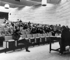 139 First meeting of the Medical School Faculty Council held in the tiered lecture theatre,...