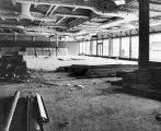 166 Section of cafeteria looking towards the Arts and Education and Physics - Chemistry Buildings. Note