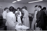 003 Registration, Far left: Julia Mathieson; third from right: Dr. Bill Eaton