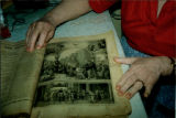 A photo of Mary Felix's bible, showing one of the illustrations