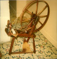 Spinning wheel from the late 1800s-early 1900s, originally owned by Mrs. Gaudon's...