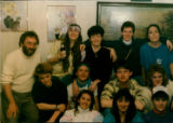 Folklore 4400 class of 1988 piled on Émile Benoit's couch