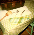 Barber tools owned by Matthias Gaudon. Manually-operated clippers and other items for cutting...