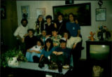 Memorial students at Émile Benoit's house: (at back) Karen, Wanda, Bonnie, Janet (in center)...