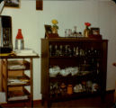 China cabinet and television in Dan O'Quinn's Home