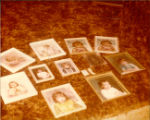 Photos that Mrs. Sheppard had packed up on the floor of her home while she waited for her...