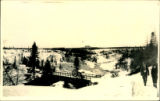 032. View of Bridge and River in Winter