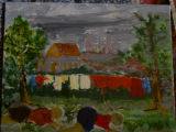Bill Alderice's painting: Clothesline 2