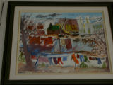 Bill Alderice's painting: Clothesline 4
