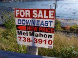 For sale sign, across from Bill Alderdice's, 34 Battery Road