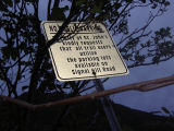Parking sign, near Jack Wells' store