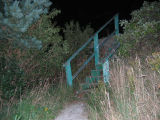 Stairs at night, path off of Middle Battery Road