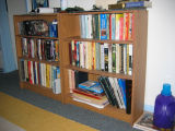 Bookshelves at Mary Betts & Brandt Evans' house