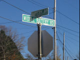 Lanes and Pathways - Battery Road/Middle Battery Road sign