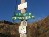Lanes and Pathways - Fort Waldegrave/Battery Road signs