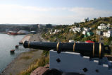 Cannon and Battery/Harbor in background