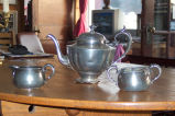 Silver tea set, Bruce Peters' family heirloom