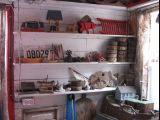 Charlie Pearcey's Twine Store, shelves and items