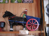 "Charlie Pearcey's Twine Store, ""Horse and cart"" carving"